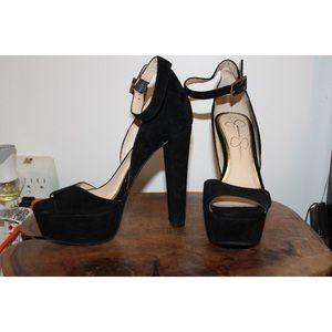 Jessica Simpson Black Stilettos